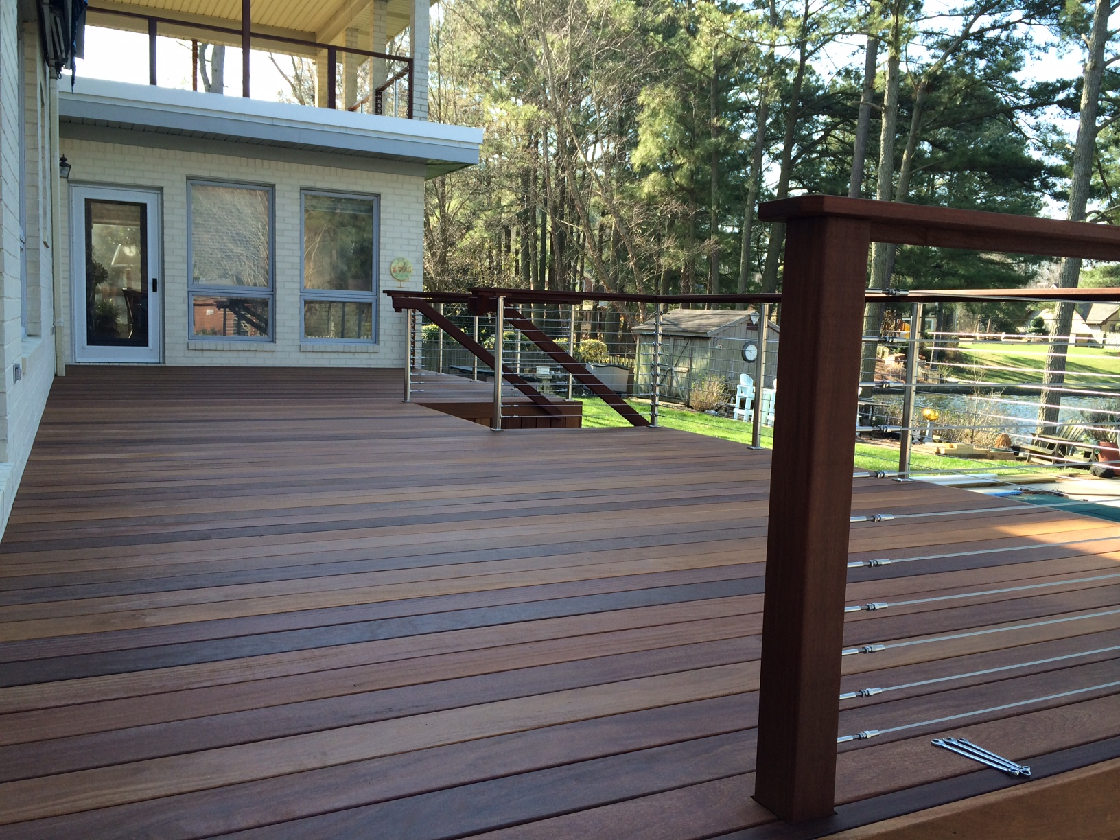 Brazilian ipe 39 hardwood decked out builders for Hardwood decking supply