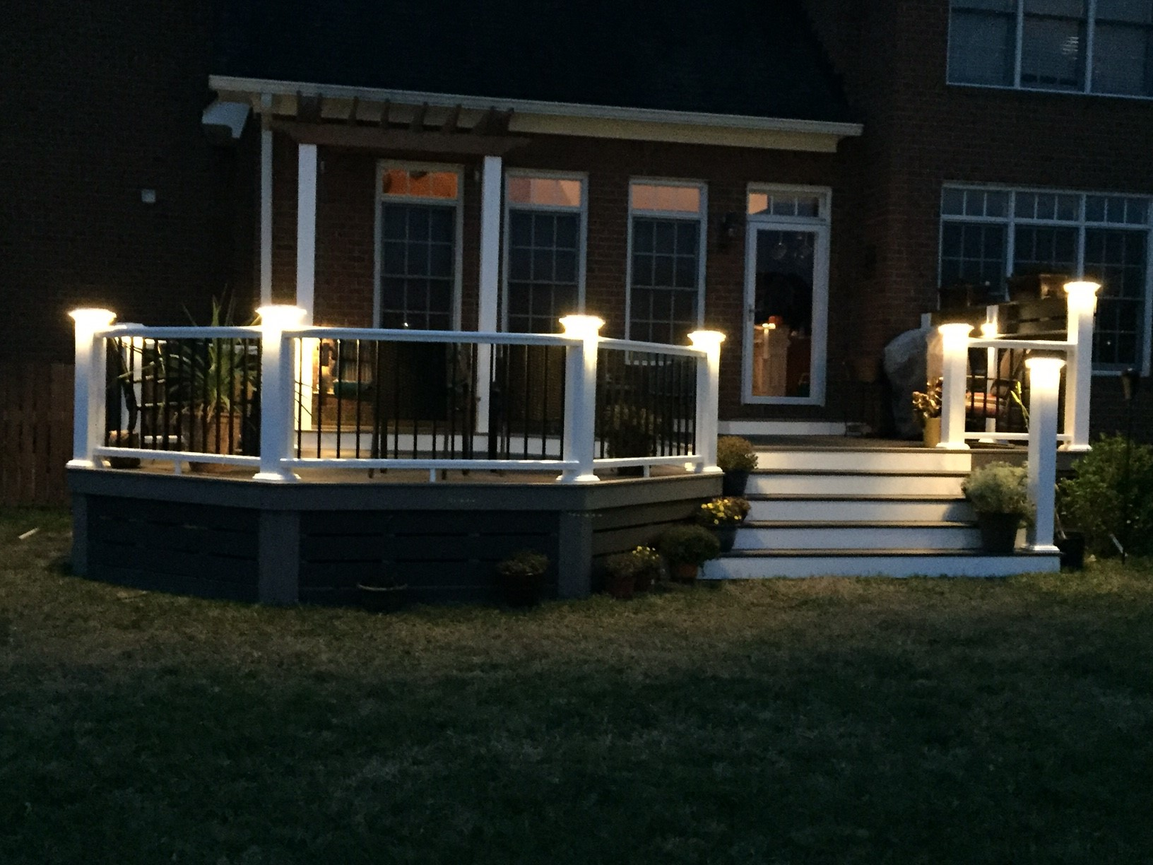 Lighting decked out builders integrated lighting gives your deck an elegant look after dark aloadofball Gallery